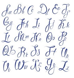 Abc - english alphabet - handwritten calligraphic vector