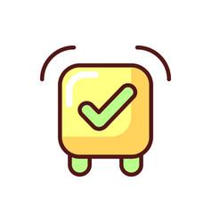 Alarm clock app rgb color icon vector