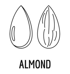 Almond icon outline style vector