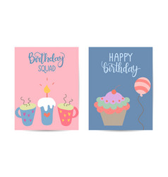Beautiful simple card with cute elements and hand vector
