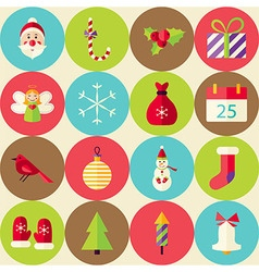 Beige Flat Merry Christmas Seamless Pattern Set vector image