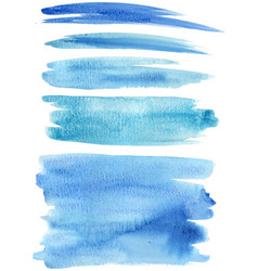 blue paint strokes vector image