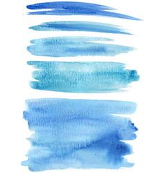 Blue paint strokes vector