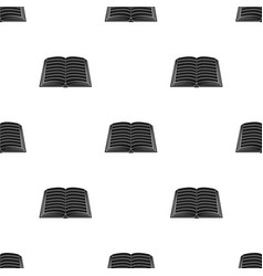book icon in black style isolated on white vector image