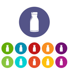 bottle shampoo icons set color vector image