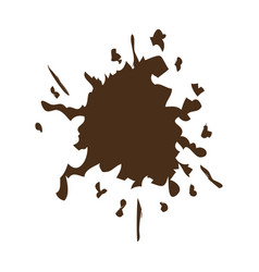 brown splash color paint explode image vector image