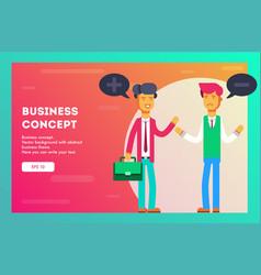 businessman with positive idea and negative idea vector image