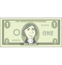 cartoon American dollar vector image