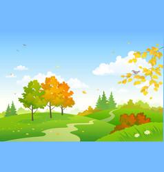 Cartoon autumn woodland vector