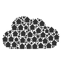 Cloud composition of house icons vector