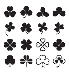Clover leaves icons vector