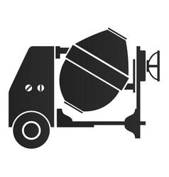 concrete mixer silhouette vector image