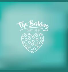 Coockie of bakery food design vector