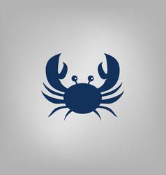 crab flat icon vector image