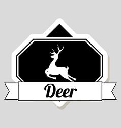 deer design vector image