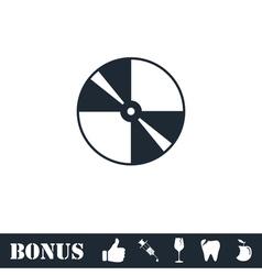 Disc icon flat vector