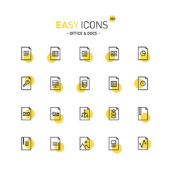 Easy icons 20d files vector