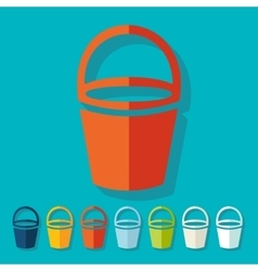 Flat design bucket vector