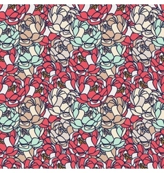 Floral gentle pattern vector