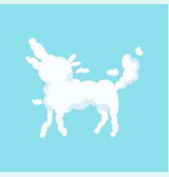 Fluffy cloud in bizarre shape dog children vector