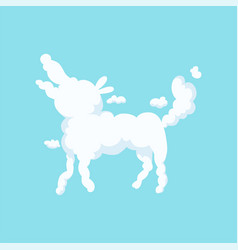 Fluffy cloud in bizarre shape of dog children vector