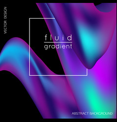 Fluid gradient liquid cover design for banner vector