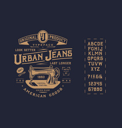 font urban jeans vector image