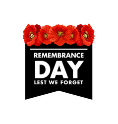 For remembrance day vector