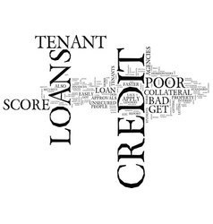 For tenants with bad credit poor credit tenant vector