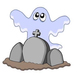 Ghost with graves vector