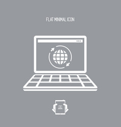global web services - flat minimal icon vector image