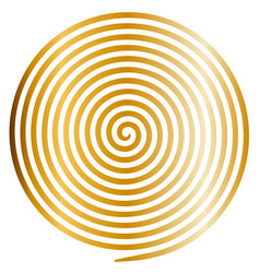 gold round abstract vortex hypnotic spiral vector image