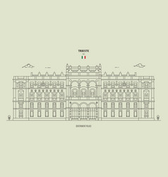 government palace in trieste italy vector image