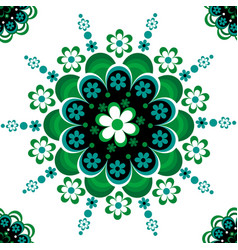 green floral ornament vector image