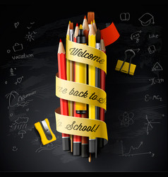 high detailed design template for back to school vector image