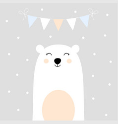 Holiday card with bear vector