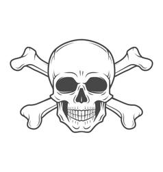 Human evil skull pirate insignia concept vector