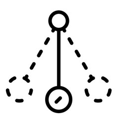 Hypnosis balance icon outline style vector