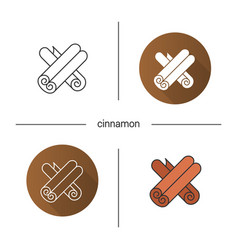 icon flat design linear and color styles isolated vector image