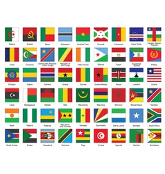 icons with African flags vector image
