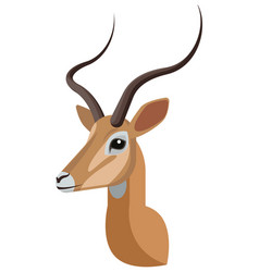 Impala portrait made in unique simple cartoon vector