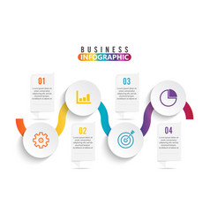 Infographic element with four options vector