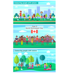June 5 world environment day promotional posters vector