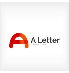 Letter logo minimal line design vector