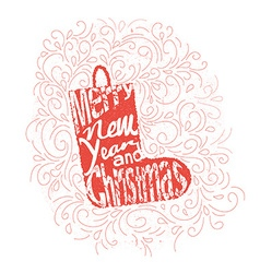Lettering Christmas vector image