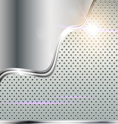 Lux Metal Background with Text Space vector image vector image