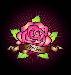 mothers rose vector image