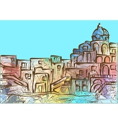 Naples vector image