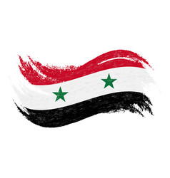 national flag of syria designed using brush vector image