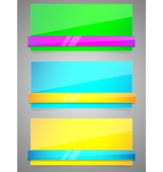 neon banners vector image